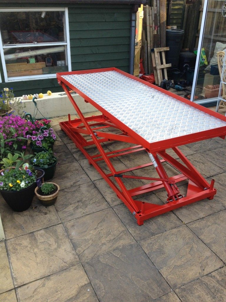 Motorcycle Lift with Base Plate