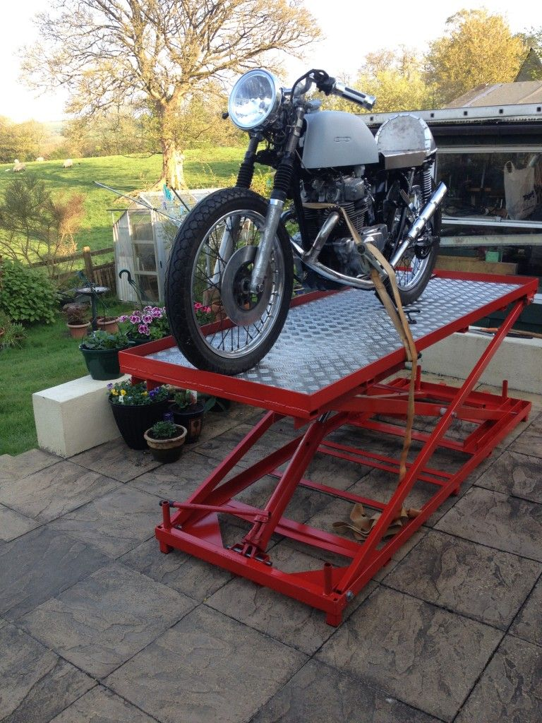 Raised Motorcycle Bike Lift